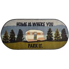 "Cozy Cabin Home is Where You Park It 20""x44"" Oval"