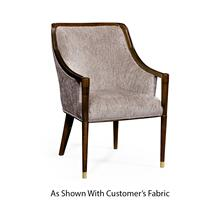 See Details - Contemporary Antique Mahogany Dining Chair, Upholstered in COM