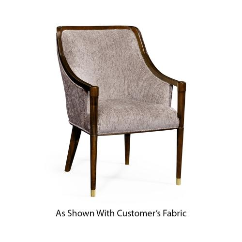 Contemporary Antique Mahogany Dining Chair, Upholstered in COM
