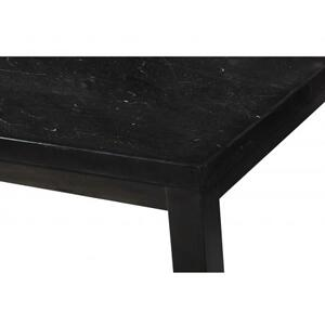 Markina 70 inch Black Marble Top Table