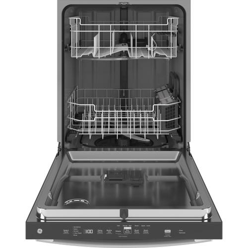 GE Appliances - GE® Top Control with Stainless Steel Interior Door Dishwasher with Sanitize Cycle & Dry Boost
