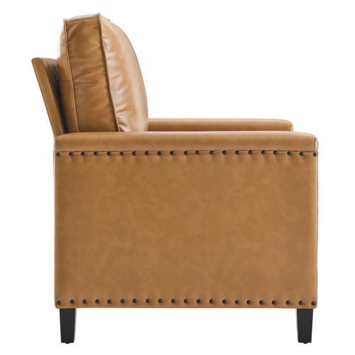 Modway - Ashton Vegan Leather Armchair in Tan