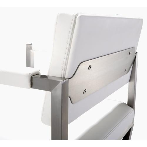 Product Image - Director White Steel Barstool