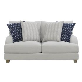 See Details - Emerald Home Laney Loveseat W/ 4 Accent Pillows Grey