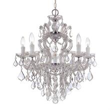 Maria Theresa 6 Light Spectra Crystal Chrome Chandelier