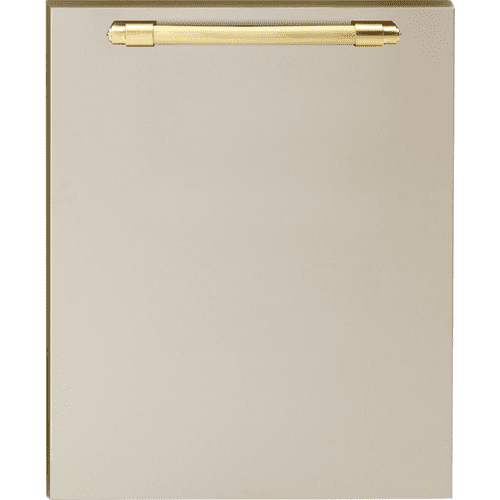 Dishwasher panel with handle Cream matte, Gold