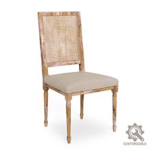 Cane Back Side Chair Frame, Fabric