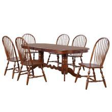 See Details - Double Pedestal Extendable Dining Set (7 Piece)