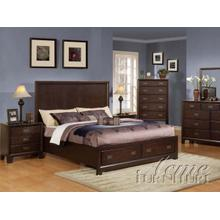 Capuccino Finish Queen Size Bedroom Set