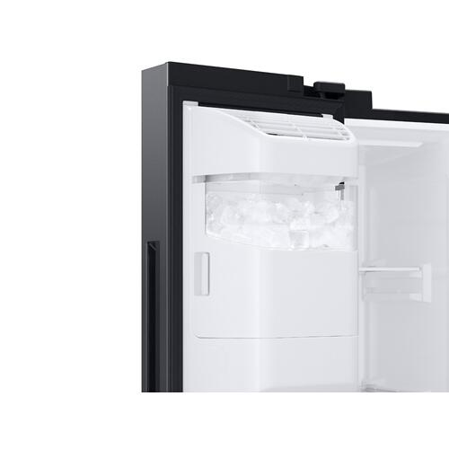 22 cu. ft. Counter Depth Side-by-Side Refrigerator with Touch Screen Family Hub™ in Black Stainless Steel