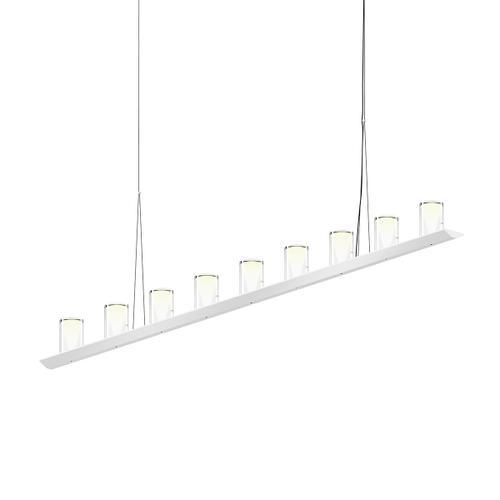 "Sonneman - A Way of Light - Votives LED Bar Pendant [Size=6', Color/Finish=Bright Satin Aluminum, Shade Size=4.5"" height x 2.75"" diameter]"
