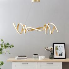 Hamburg LED Horizontal Chandelier // Gold