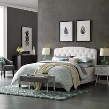 Amelia Twin Faux Leather Bed in White