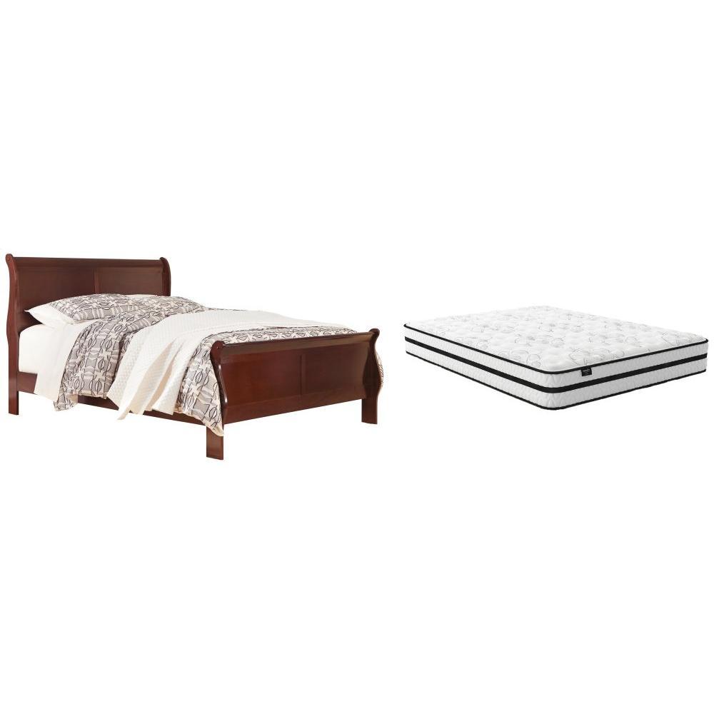 Queen Sleigh Bed With Mattress