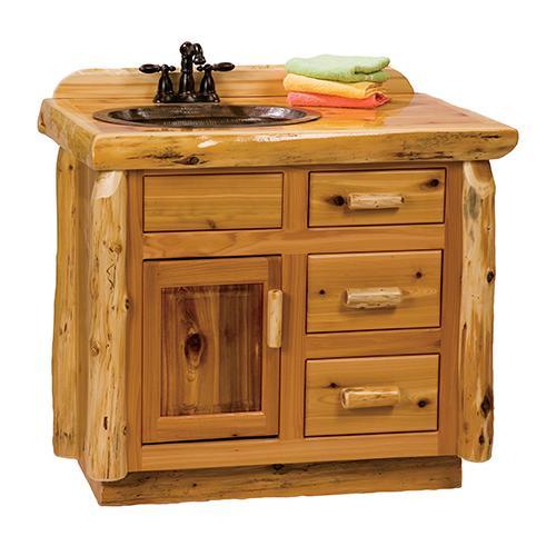 Product Image - Vanity Base - 36-inch - Natural Cedar - Sink Center