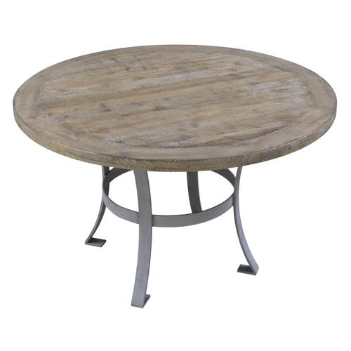Emerald Home Interlude Round Dining Table Base Sandstone Gray D560-14base-05