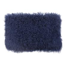 Tibetan Sheep Blue Long Pillow