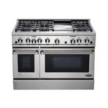 "48"" Dual Fuel, 6 Burner, Griddle"