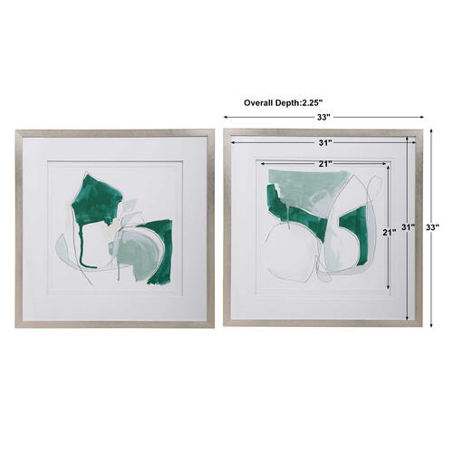 Idlewild Framed Prints, S/2