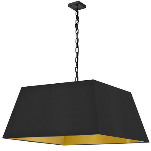 Product Image - 1lt Milano X-large Pendant, Blk/gld Shade, Blk