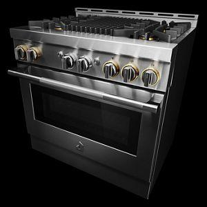 """JennAir - RISE™ 36"""" Gas Professional-Style Range with Grill"""