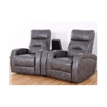 REC-567 & CON- 567 Canto Slate Leather Recliner