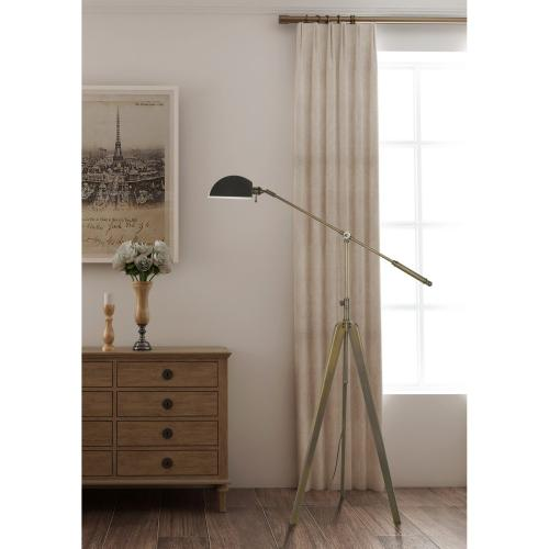 60W Cuero On Off Metal Tripod Balanced Arm Floor Lamp With Adjustable Height