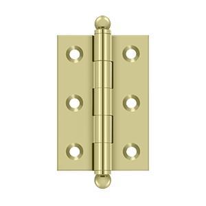 "Deltana - 2-1/2"" x 1-11/16"" Hinge, w/ Ball Tips - Unlacquered Brass"