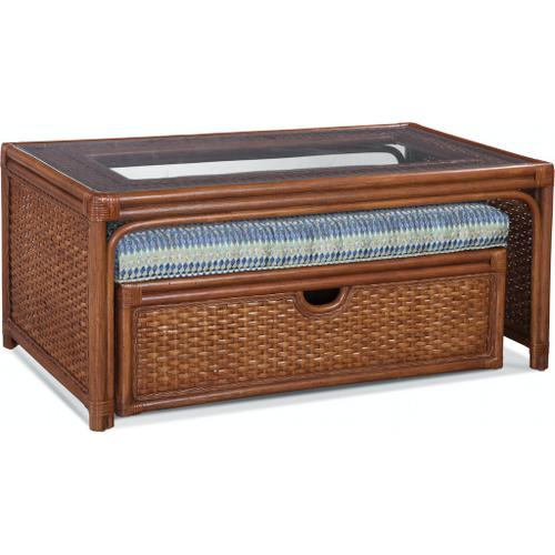 Grand Water Point Cocktail Table with Storage Bench