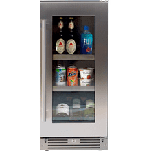 15in Beverage Center SS Glass RH