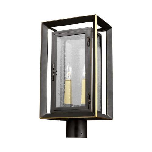 Urbandale Post Lantern Antique Bronze / Painted Burnished Brass