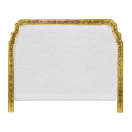 US Queen Gilded & glomise Headboard, Upholstered in COM