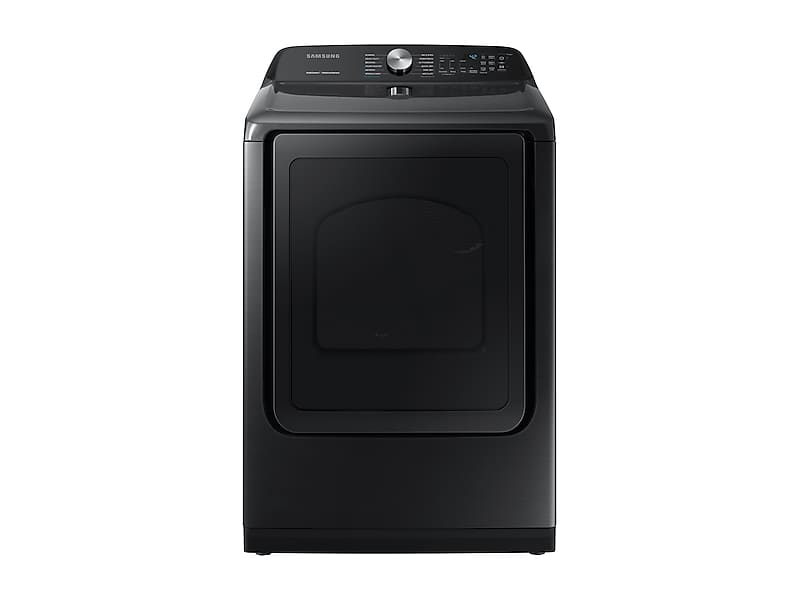 Samsung7.4 Cu. Ft. Gas Dryer With Steam Sanitize+ In Black Stainless Steel