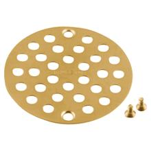See Details - Moen Brushed gold tub/shower drain covers