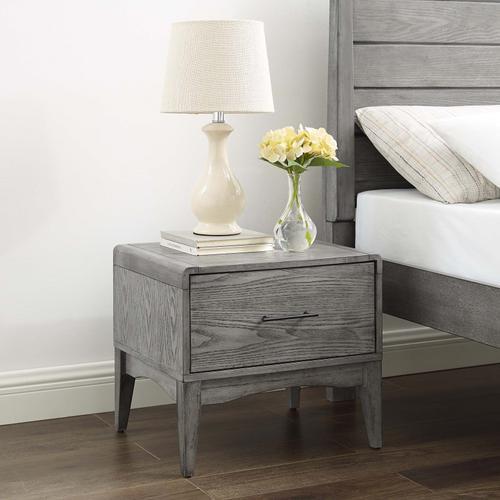 Georgia Wood Nightstand in Gray