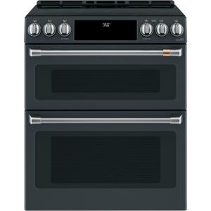 "Cafe Appliances30"" Smart Slide-In, Front-Control, Induction and Convection Double-Oven Range"