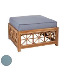 Teak Lattice Square Ottoman Cushion