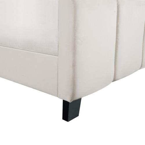 Accentrics Home - King Modern Channel Bed in Ivory