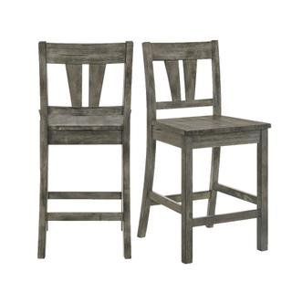 See Details - Nathan Counter Side Chair w/Wooden Seat & Fan Back Slat (2 Per Pack)