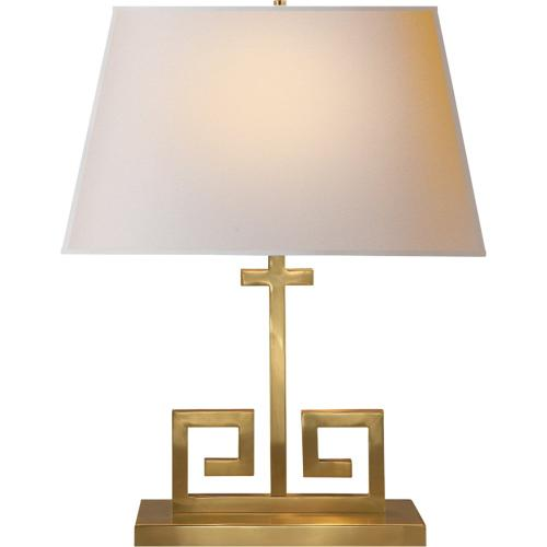 Visual Comfort AH3024NB-NP Alexa Hampton Kate 24 inch 60 watt Natural Brass Decorative Table Lamp Portable Light