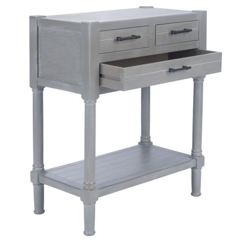 Safavieh - Filbert 3 Drawer Console Table - White Washed Grey