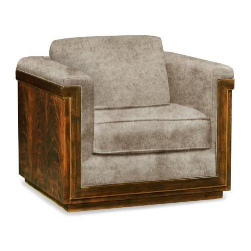 40'' Antique Mahogany Brown High Lustre Sofa Chair, Upholstered in Calico Velvet