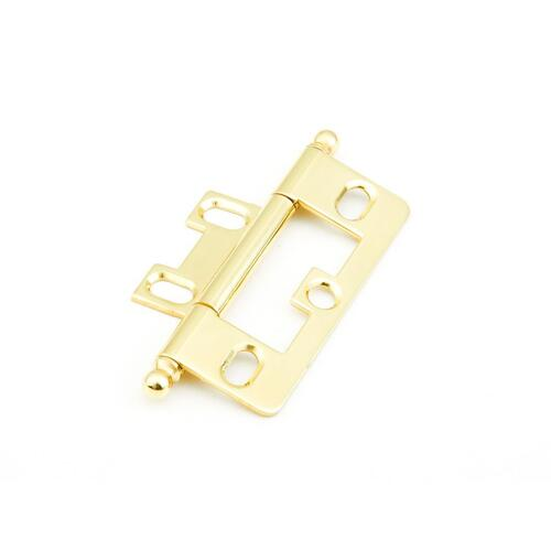 Solid Brass, Hinge, Ball Tip Non-Mortise, Polished Brass finish