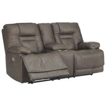 View Product - POWER CONSOLE LOVESEAT WITH ADJUSTABLE HEADREST AND LUMBAR