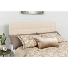 See Details - Bedford Tufted Upholstered Queen Size Headboard in Beige Fabric