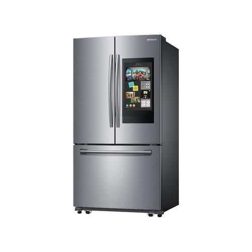 Samsung - 25.1 cu. ft. 3-Door French Door Refrigerator with Family Hub™ in Stainless Steel
