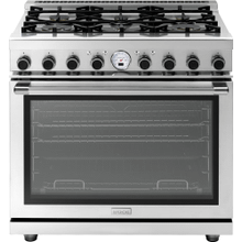 """See Details - Range NEXT 36"""" Panorama Stainless steel 6 gas, electric oven, self-clean"""