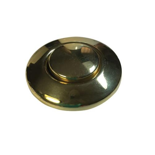 polished brass disposal air switch button