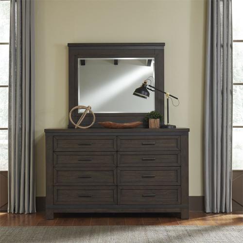 Queen Bookcase Bed, Dresser & Mirror, Night Stand