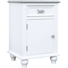 Fishtail Two Tone Door Nightstand